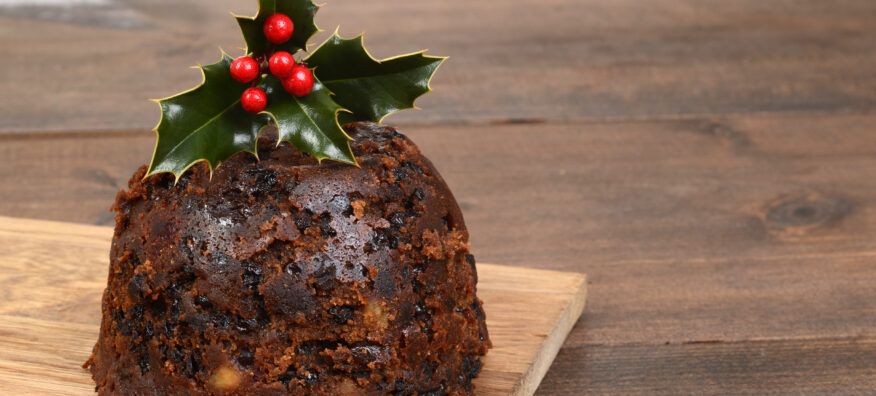 A picture of a Christmas pudding